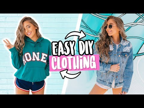 EASY DIY CLOTHING FOR SCHOOL! No Sew + QUICK 2018