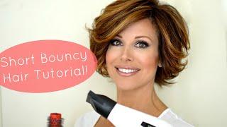 Bouncy Short Hair Tutorial