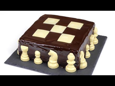 Как приготовить шоколадный шахматный торт
