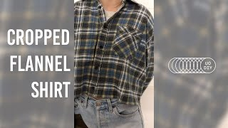 UO DIY: Cropped Flannel Shirt