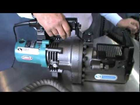 Ogura HBC-232 Electric Hydraulic Rebar Cutter Demonstration
