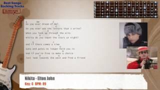 Nikita   Elton John Guitar Backing Track With Chords And Lyrics