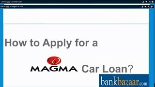 How to Apply for a Magma Car Loan
