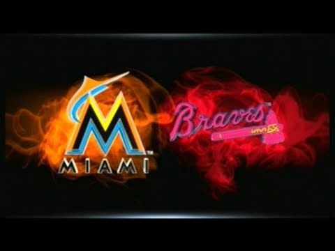 MLB 15 THE SHOW MARLINS AT BRAVES (2018 ATL HOME OPENER) GM # 07