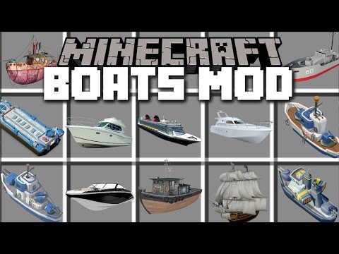 Minecraft BOATS MOD / TRAVEL AROUND WITH PIRATE BOATS AND OTHER SHIPS!! Minecraft