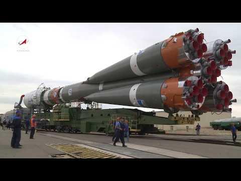 Вывоз РКН «Союз-2.1а» с КА «Канопус-В-ИК» и 72 малыми спутниками