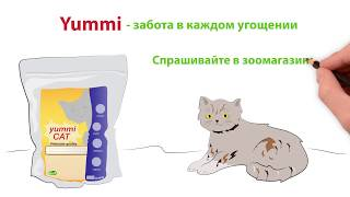 Дудлвиде для телевизионной рекламы кошачьего корма Yummi.