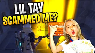 Lil Tay Nearly Scams Me! *MUST WATCH* (Scammer Gets Scammed) In Fortnite Save The World