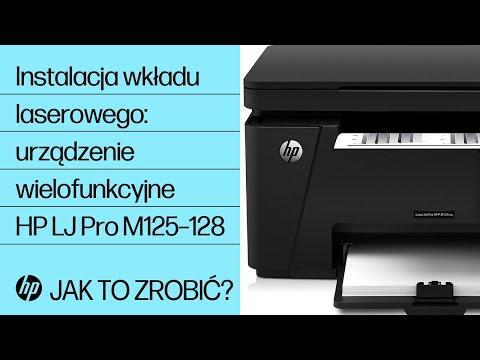 Instalacja wkładu laserowego w urządzeniu wielofunkcyjnym HP LaserJet Pro serii M125–128