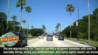 Driving Highway 192, Kissimmee, Florida