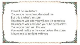 Joan Jett - This Means War Lyrics