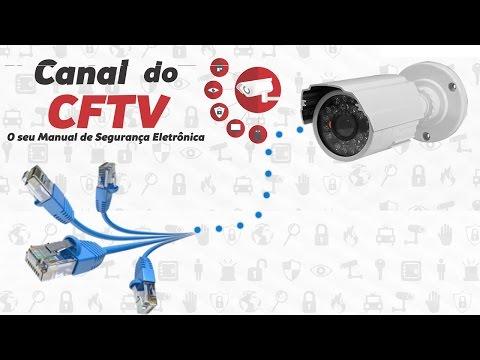 Como Instalar câmera de segurança com cabo de rede parte 1
