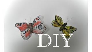 DIY: Kак cделать бабочку из пёрышек