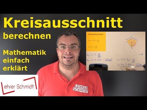 Cover: Kreis - Kreisausschnitt und Kreisbogen berechnen   Mathematik - einfach erklärt   Lehrerschmidt - YouTube