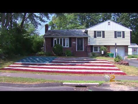 Man Transforms Yard Into Giant American Flag