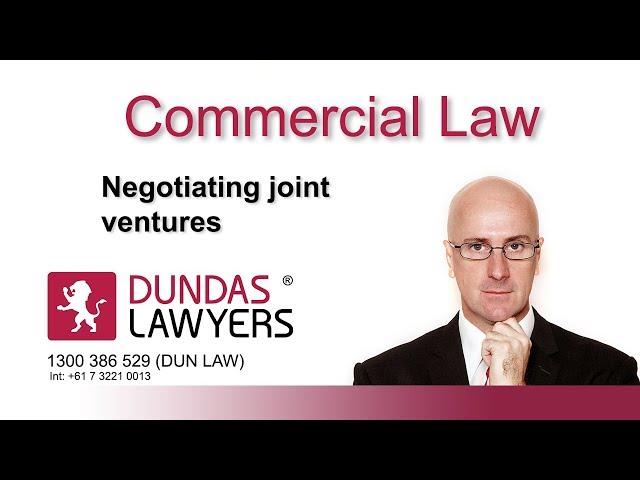 Negotiating Joint Ventures
