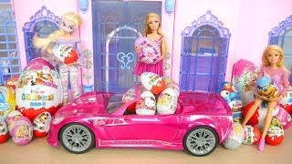 Princess Barbie Surprise Eggs Barbie Doll New RC Car Ovos Surpresa Telur Kejutan Mobil boneka Barbie