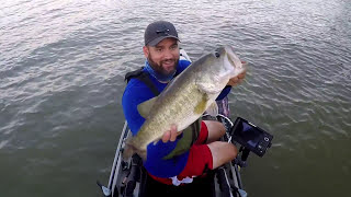 2017 GIANT TOPWATER FROG BASS! IN TEXAS in a 2016 Hobie Pro Angler 14 Kayak