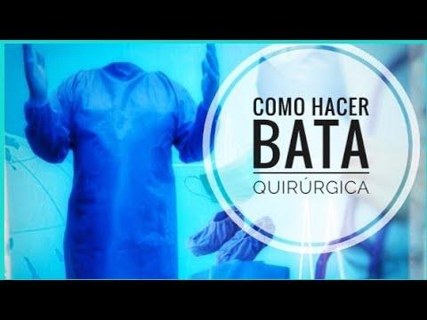 TUTORIAL COMO HACER BATA QUIRÚRGICA DESECHABLE #enfermeras #médicos