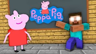 Monster School : Peppa Pig Challenge   Minecraft Animation