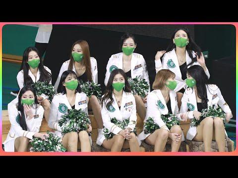 [4K] 치어리더 원주DB (cheerleader) - 쉬는 타임(방송 리액션) @남자농구(원주DB)/210…