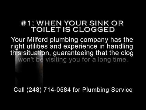 Milford MI Plumbing Service - 3 Tips When to Call - (248) 714-0584