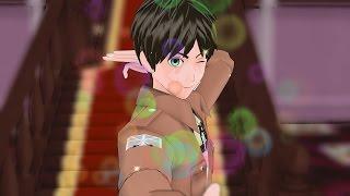 "MMD SNK ""My Boyfriend"" Attack On Titan Eren Levi Mikasa Funny AOT Meme Animation"