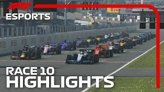F1 Esports Pro Series 2019: Race Ten Highlights