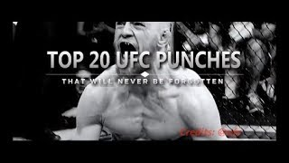 Top 20 UFC Strikes That Will Never Be Forgotten...
