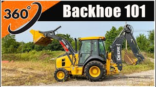 How to Operate a Backhoe (360°) | Tractor Loader Backhoe Operator Training