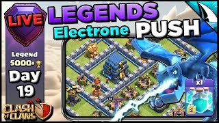 *Electrone Legend Push!* Cloning In the Air! | Clash of Clans