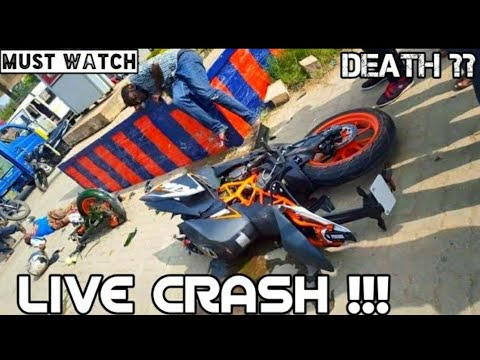 Live Accident by Duke and KTM || Police shocked' || Must watch