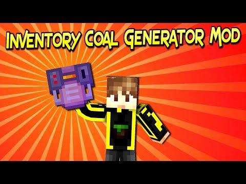 Inventory Coal Generator Mod | Generador De Energía Portátil | Minecraft 1.12.2  | Review En Español