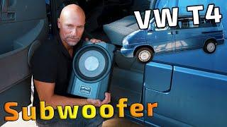 VW T4 Aktiv-Subwoofer einbauen   Option Drive10UA   ARS24