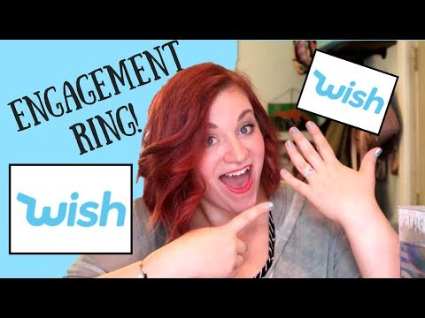 WISH ENGAGEMENT RING!!! I TESTED 5 WEDDING RINGS FROM THE WISH APP!