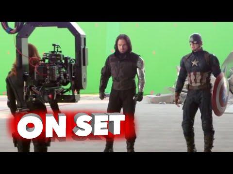 Captain America: Civil War: Behind the Scenes Movie Broll- Scarlett Johansson, Chris Evans