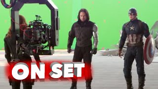 Captain America: Civil War: Behind the Scenes Movie Broll- Scarlett Johansson, Chris Evans