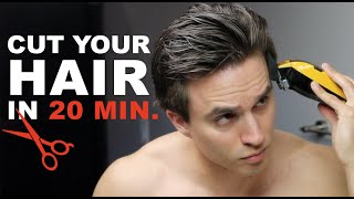 QUICK Self-Haircut For Men + [HOW TO EASILY CUT YOUR OWN HAIR]
