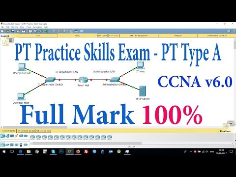 CCNA PT Practice Skills Exam - Type A 2020 (For Educations with ...