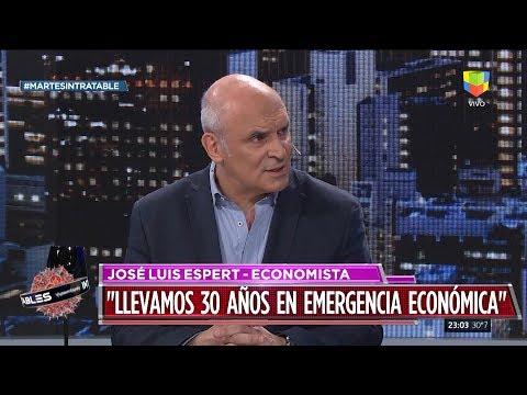 """José Luis Espert en """"Intratables"""" con Fabián Doman, por América el 10 de diciembre de 2019"""