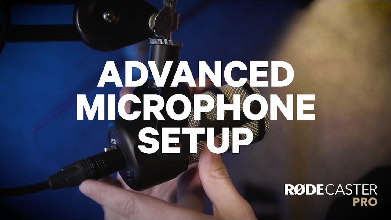 Pokročilé nastavení mikrofonu