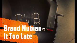 Brand Nubian - It Too Late