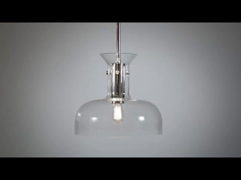 Video for Coffey Aged Brass 12-Inch One-Light Pendant