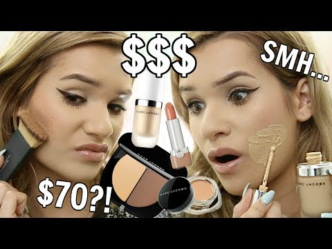 FULL FACE Using Only MARC JACOBS Makeup! WORTH IT or TOSS IT?!