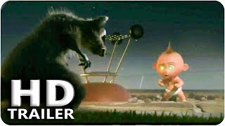 INCREDIBLES 2 Jack Jack vs Raccoon Fight Scene Trailer (2018) Pixar, Disney The Incredibles Toys HD