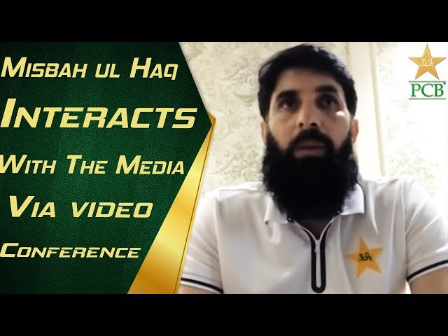 Misbah interacts with the media via videoconference