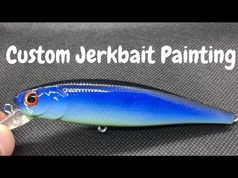 Custom Painted Jerkbait for Ryan | PAINTING FISHING LURES
