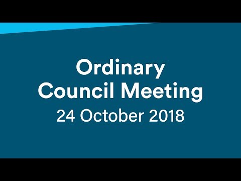 Ordinary Meeting - 24 October 2018
