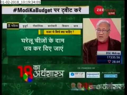 VK Suri (Banking and Financial Expert) on Budget Discussion at Zee News