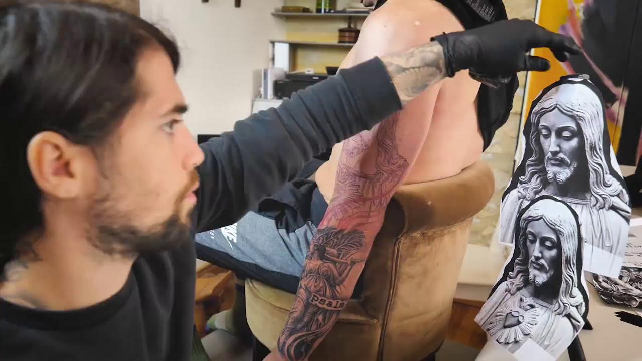 tattoo timelapse full arm by lil b tattoo